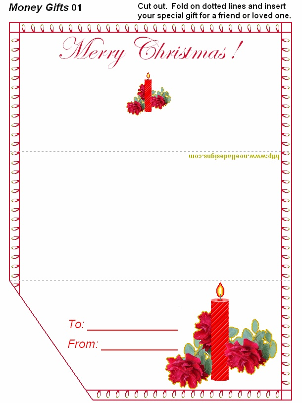 FREE Printable Christmas Money Holders