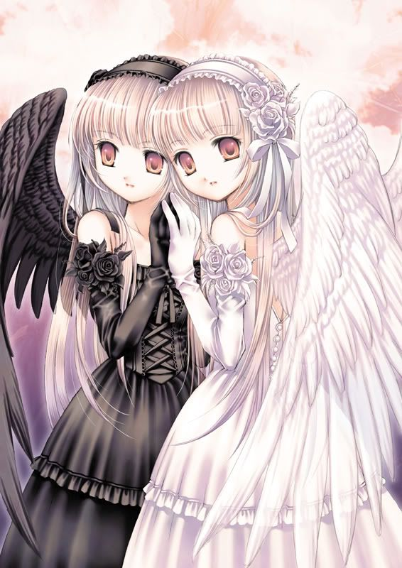 109 best images about darkness and light on pinterest - Dark anime couples ...