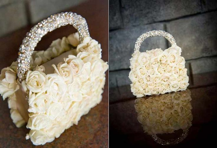 Loving this purse bouquet by Karen Tran Florals