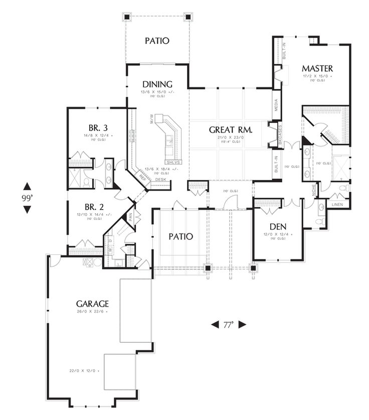 17 Best Images About Floor Plans With Large Garages 3 Or