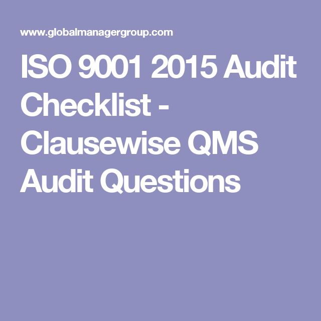 ISO 9001 2015 Audit Checklist