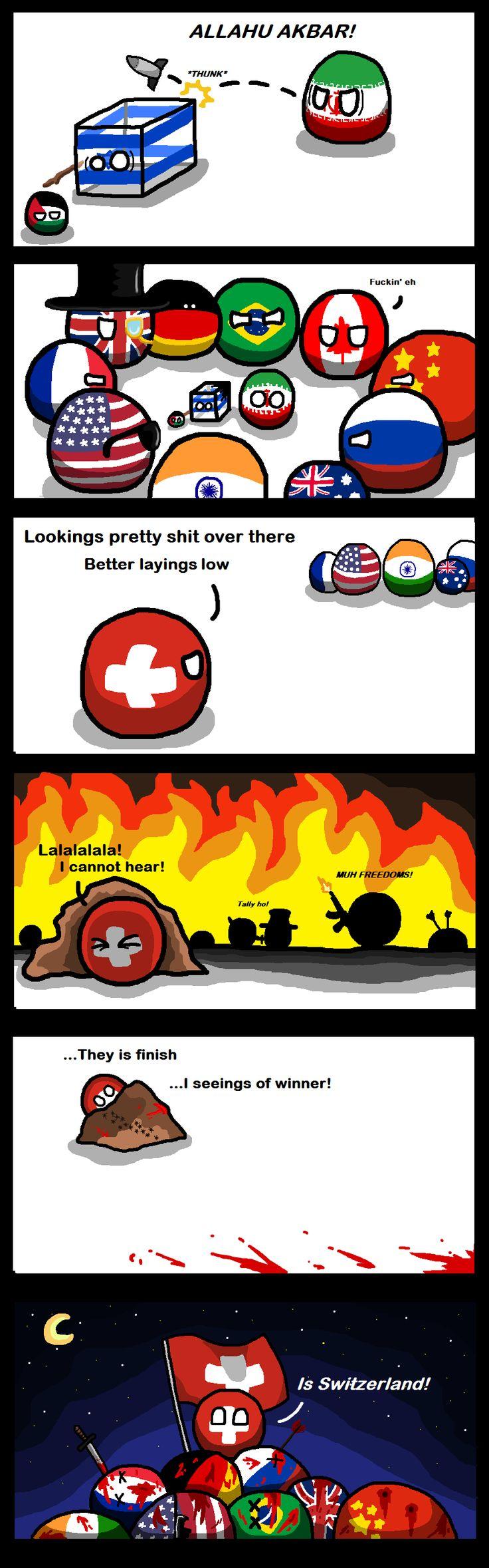 Winning by Default ( Switzerland ) by Pan Aaron #polandball #countryball