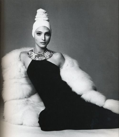 Benedetta Barzini in a Caumont dress. Photographed by Gianpaolo Barbieri forVogue Italia, 1968.
