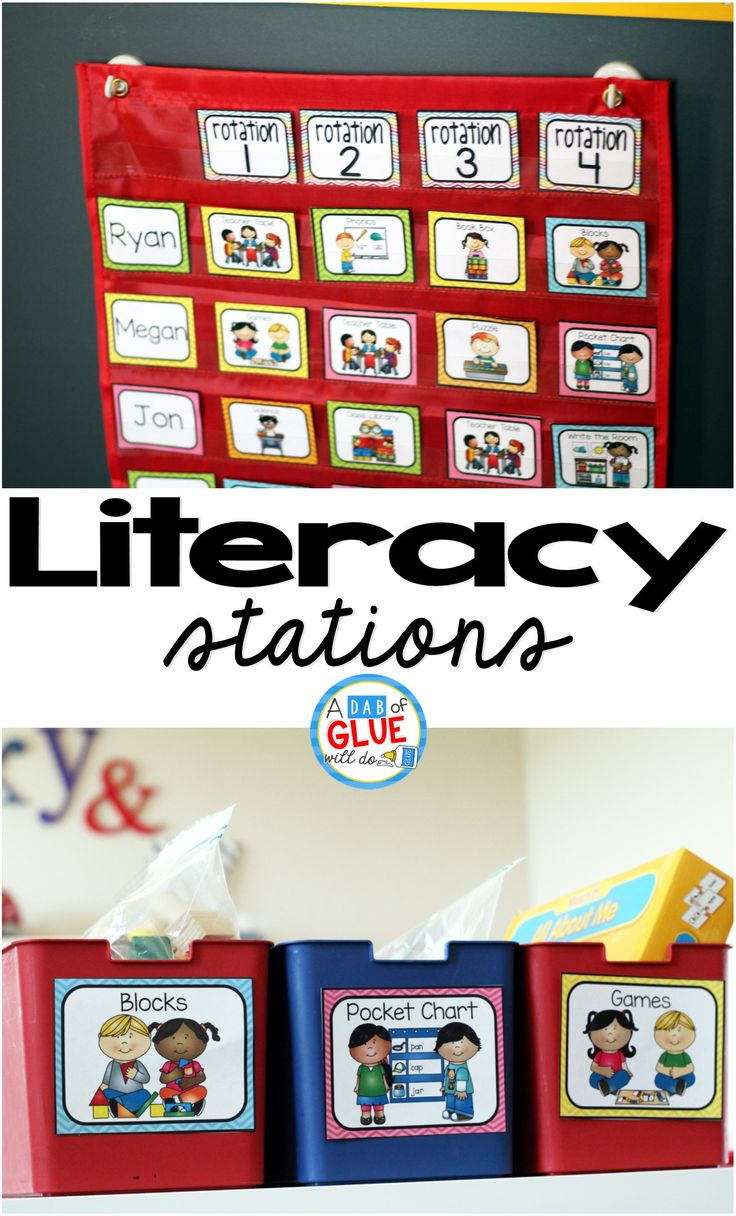 THE Literacy Stations printable for your classroom! Perfect for literacy centers in Preschool, Kindergarten, First Grade, and Second Grade including…