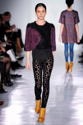 polka dots and 70's. Ivana Helsinki A/W 2012 #collection #fashion #runway
