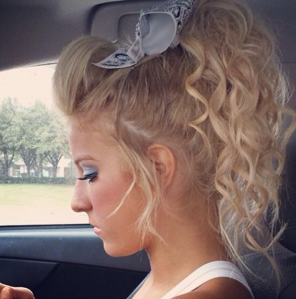 Cheerleader Hairstyles Beauteous 10 Best Cheer Hairstyles Images On Pinterest  Cheer Hair Cheer