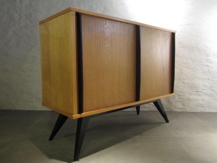 Schweizer Eschenholz & Buche Sideboard von Genossenschaft Hobel, 1955 2