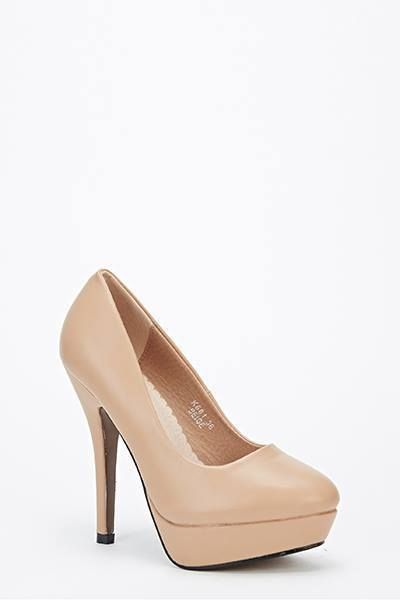 Womens Ladies Nude Platform High Heel Work Smart Court Shoes Size UK 6 EU 39 New  Click On Link To Visit My Ebay Shop  http://stores.ebay.co.uk/all-about-feet  Useful Info:  - Standard Size - Standard Fit - By Super Me - Nude In Colour - Heel Height: 4 Inches - Platform: 0.5 Inches - Synthetic Leather Upper