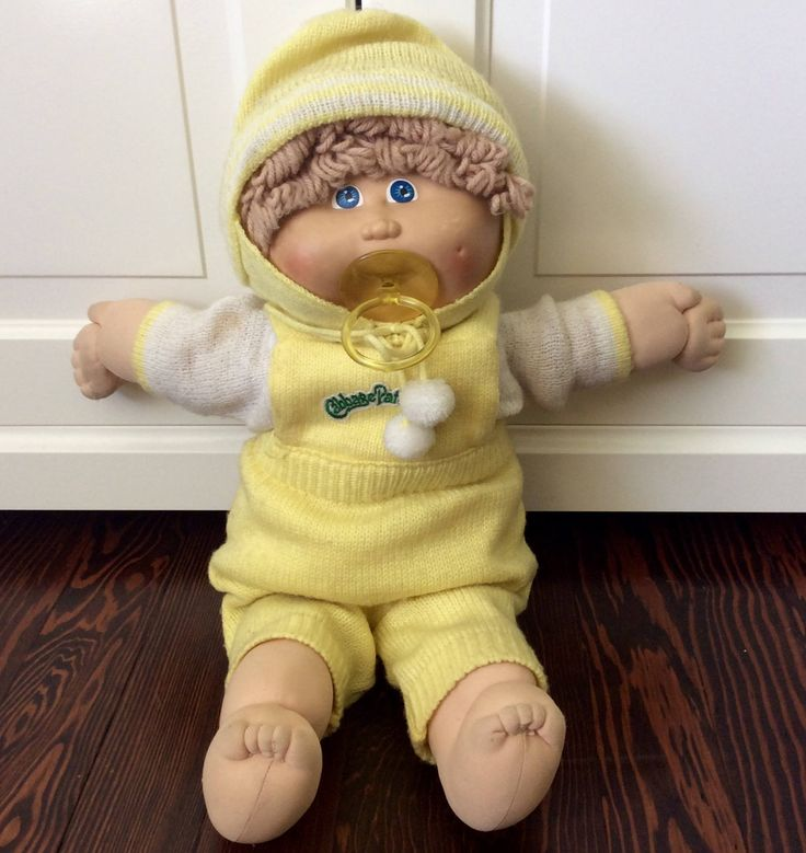 1985 Cabbage Patch Kid Boy With Pacifier and Blonde Hair, Vintage Cabbage Patch Kids, Boy Cabbage Patch Doll, Pacifier Cabbage Patch, CPK by Lalecreations on Etsy