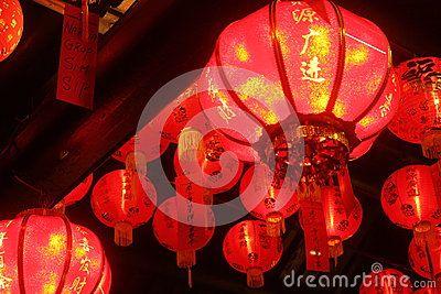 Lanterns in Dhanagun temples, Bogor, West Java, Indonesia, on Lunar New Year.