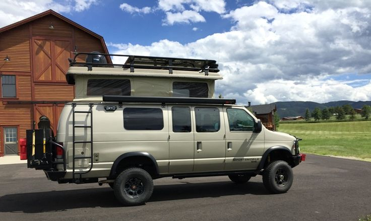 Roof Rack Ladder >> Sportsmobile Custom Camper ...Aluminess gear all around: Roof rack, Front and rear bumpers ...