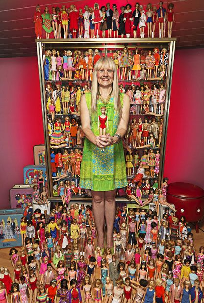 Bettina Dorfman from Germany has the largest collection of Barbie dolls in the world (6,025 at the moment). She began collecting them in 1993. [Photo: Guinness World Records / PA]