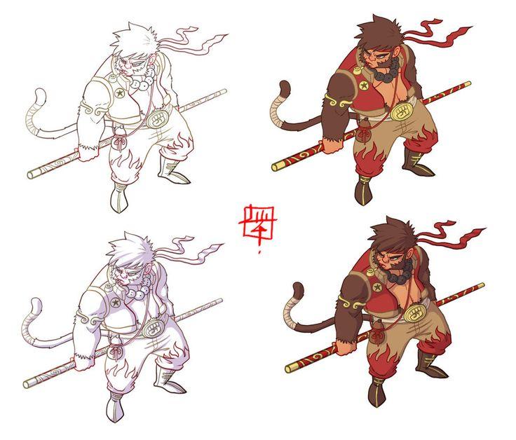 Character Design Hanuman : Best images about art the monkey king on pinterest