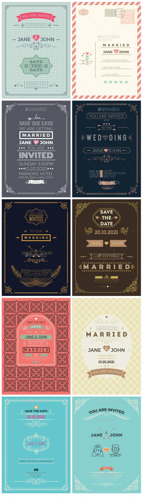 vintage wedding card design template%0A    Wedding Invitation Card Templates