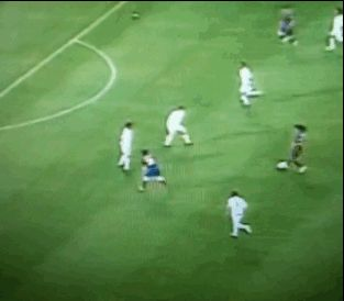 Lionel Messi's first ever goal for Barcelona on May 17, 2005.