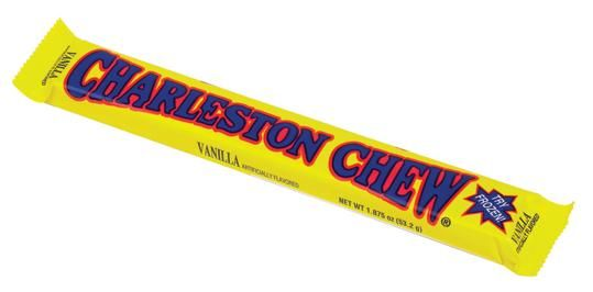 Famous sweets made in Massachusetts  Charleston Chew  Launched in 1922, the Charleston Chew is flavored nougat wrapped in a chocolaty coating. Tootsie Roll acquired the candy in 1993, and it is produced in Cambridge.