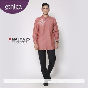 Baju Kemeja Pria Koko Majma 25 Terakota - Ramadhan Sale