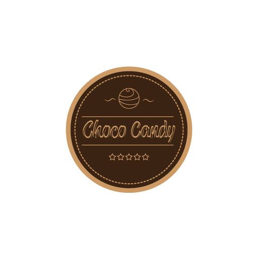 logo design for candy chocolate