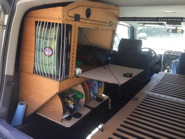 Laser Cut Lightweight Plywood Cabinet And Cot   Honda Element Owners Club  Forum