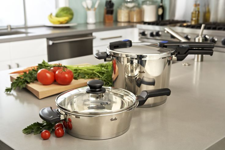 Fissler Vitaquick pressure cookers.  Young, modern, ingenious!  Perfect for year-round cooking.  Buy now at Bon Appetit!  http://bonappetitcookware.com/collections/fissler-vitaquick-pressure-cooker