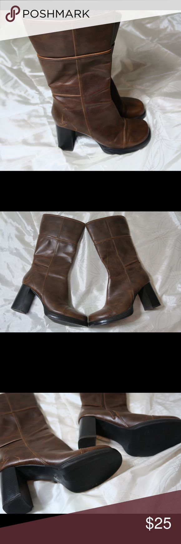 Sketcher Boots Great design and very comfortable. Brown heeled boots. Good Condition Skechers Shoes Heeled Boots