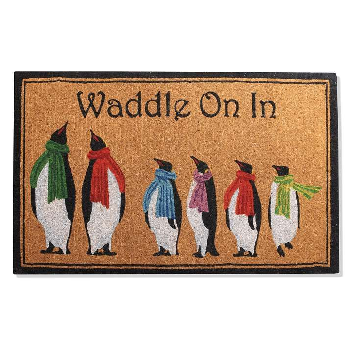 Penguin Coco Entry Mat.  Too pricy but like the saying $79-149