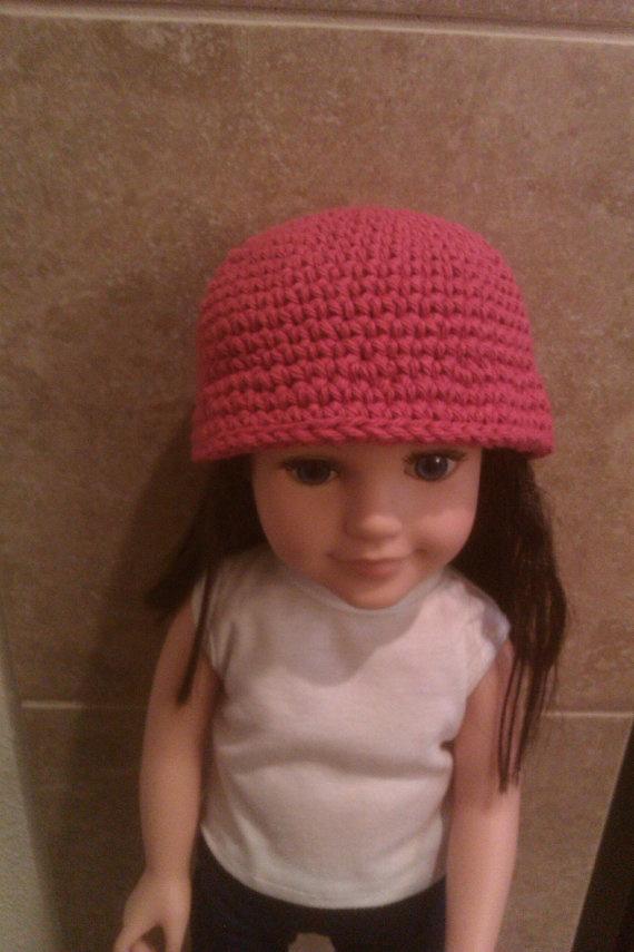Crimson crochet doll cloche fits American girl by SMALworldDesigns, $7.00: Crochet Dolls, Girls Dolls, Dolls Clothing, Dolls Cloche