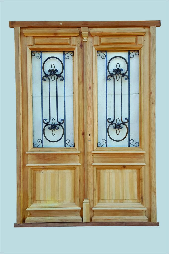 Las 25 mejores ideas sobre puertas de entrada dobles en for Vidrios para puertas de madera