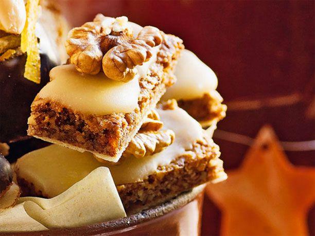 Lebkuchen-Rezept für Walnuss-Lebkuchenecken