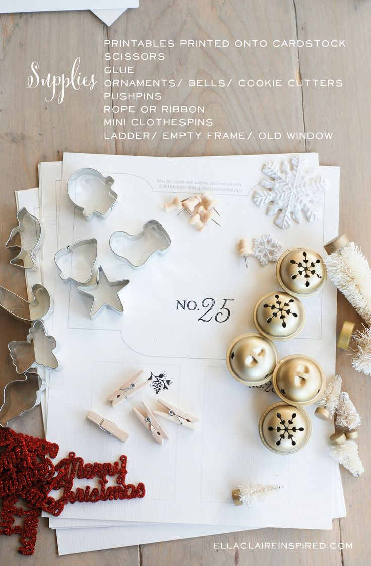 Diy Old Calendar : Free printable vintage christmas advent calendar diy