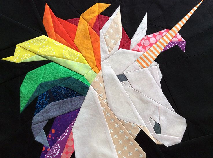 Rainbow Unicorn Pattern. How to piece a rainbow mane.