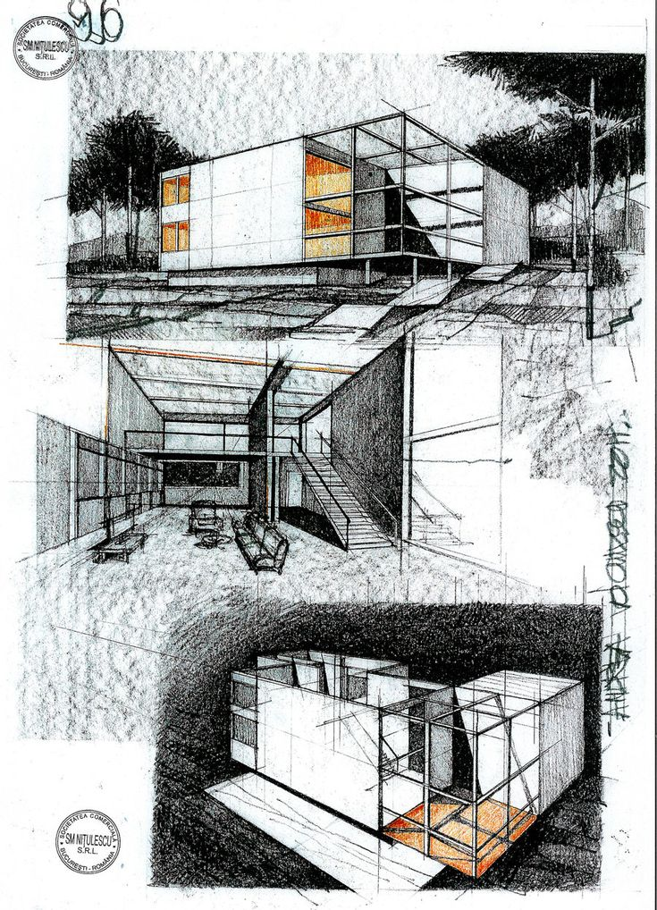 House by ArhHaralamb Georgescu by dedeyutza.deviantart.com on @DeviantArt (Desenho de arquitetura)