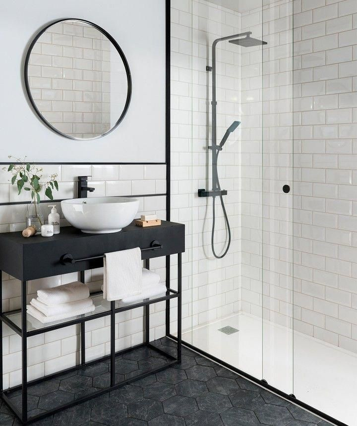 All The Equipment For A Cozy Room White Bathroom Tiles