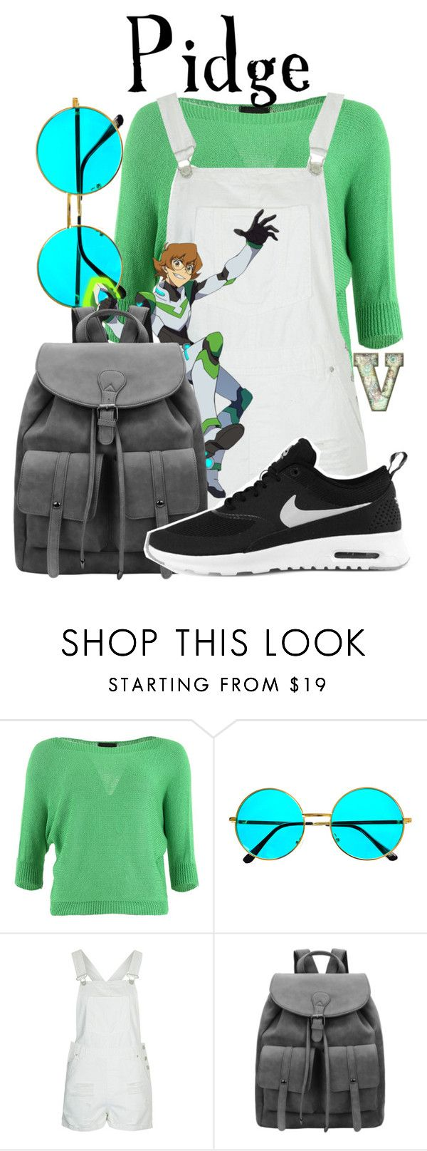 """Pidge Gunderson (Voltron: Legendary Defender)"" by fabfandoms ❤ liked on Polyvore featuring FRACOMINA, Topshop and NIKE"