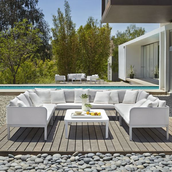 Outdoor Furniture   Connexion Sectional And Occasional Table