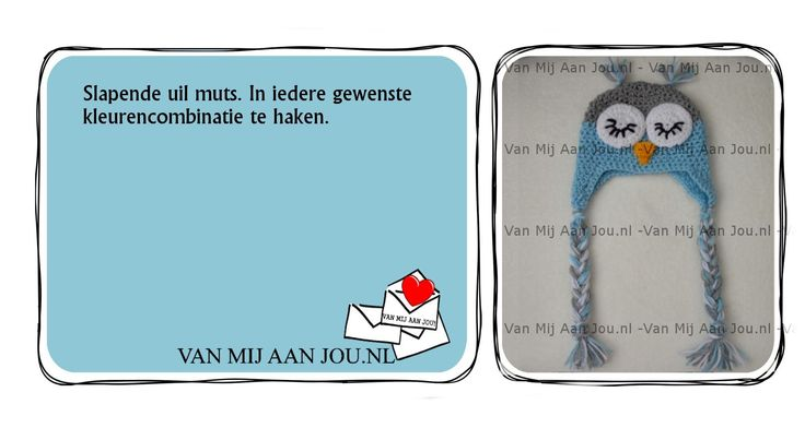 newborn baby en peutermaat - voor meisjes en jongens - uilenmuts - muts op bestelling gehaakt - met de hand op maat en kleur gehaakt - www.vanmijaanjou.nl -