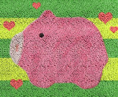 pink pig 2016 Hook Rug Kit DIY Unfinished Crocheting Yarn  Floor Mat Santa Claus Picture Carpet Set //Price: $24.95 & FREE Shipping //     #hashtag2