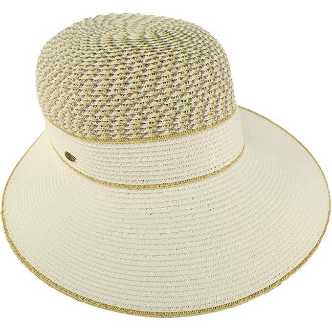 C.C Backless Brim Floppy Visor 3-3//4 Wide Summer Beach Pool Sun Hat Cap