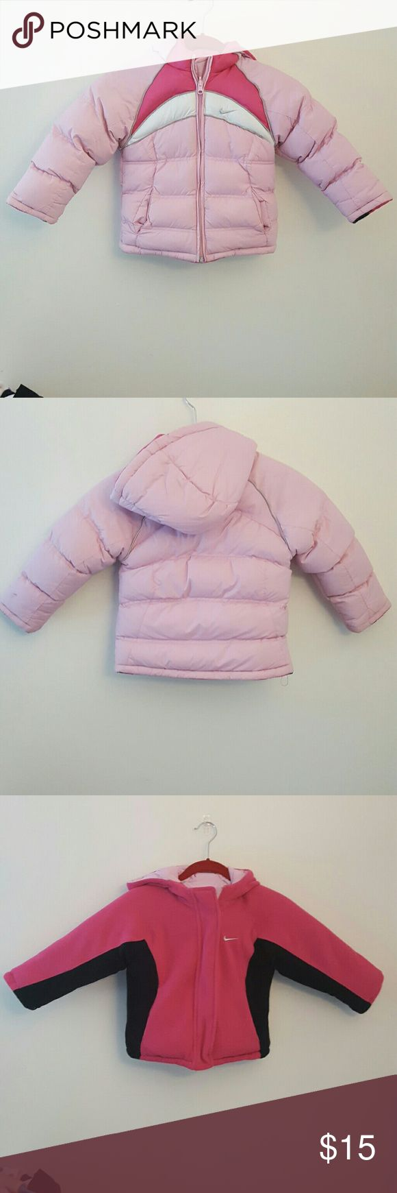 Reversible Nike winter jacket light pink nike jacket that can be worn 2 ways Nike Jackets & Coats Puffers