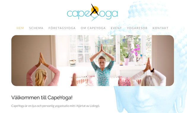New website for client Cape Yoga