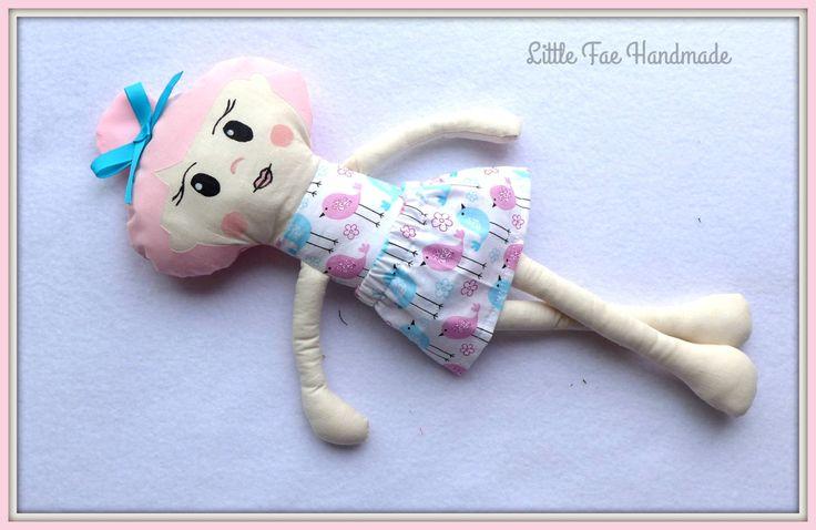 "Handmade Doll "" Blue Bird """