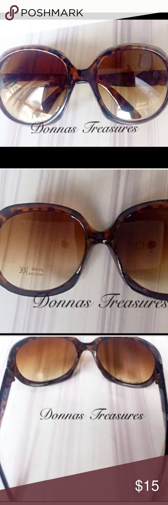 """☀️Oversized Tortoiseshell Womens Sunglasses These frames are made of high-quality plastic. The arms are 5"""" long. The lenses are 3"""" from top to bottom & 3"""" from side to side. They have a UV protection level of 400. #0888/1 Accessories Sunglasses"""