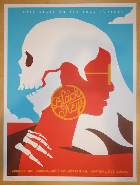 2015 The Black Keys - Montreal Silkscreen Concert Poster by Dan Stiles