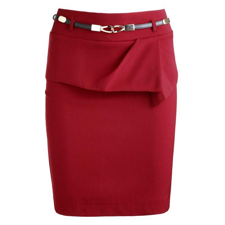 Зима женщины юбка карандаш леди формально юбка до середины бедра Большой размер леди юбки all матч женщины короткие юбки с поясом сплошные цвета купить на AliExpress
