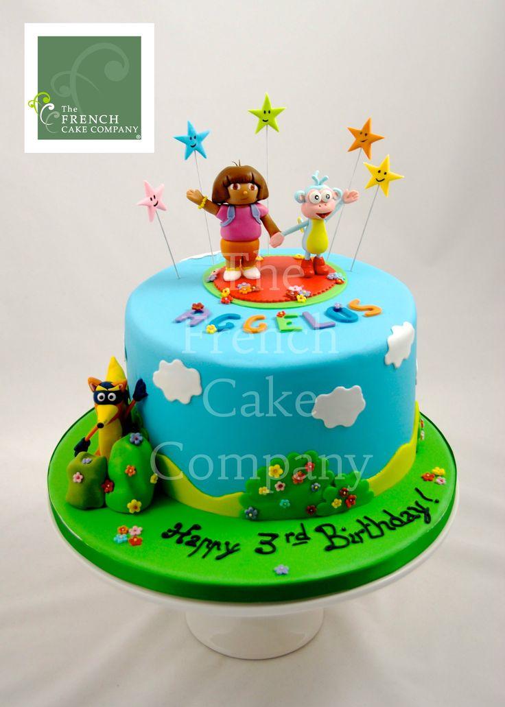 Childrens Birthday Cake - Gateau D'anniversaire Pour Enfants - Filles Dora l'exploratrice - Verjaardagstaart