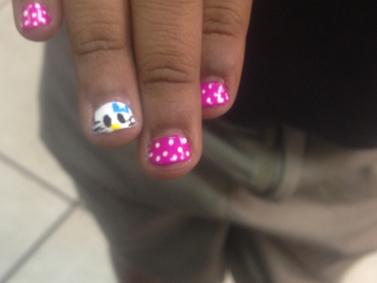hello kitty kids nail art nail art pinterest nail