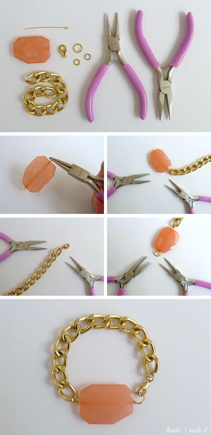 DIY Chunky Bead Bracelet