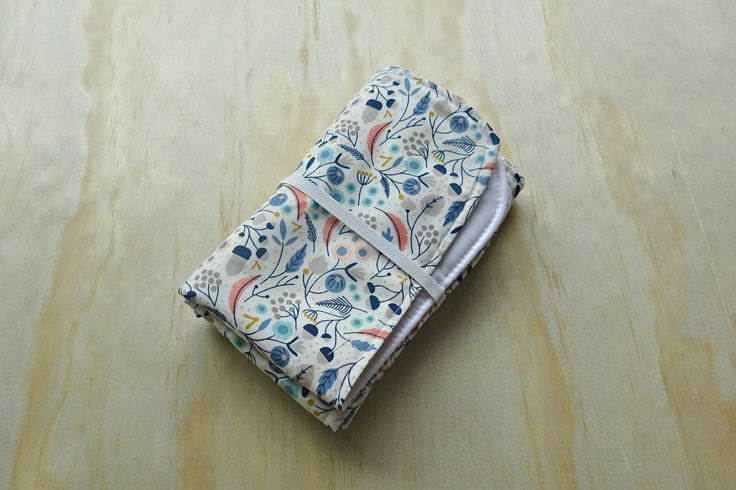 Australian flora pattern wipeable baby change mat cover. change mat cover. nappy wallet change mat by BitsandBobs4Bubs on Etsy