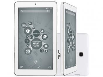 "Tablet DL X-Quad Core 8GB Tela 7"" Wi-Fi - Android 4.4 Proc. Quad Core Câm. 2MP + Frontal"