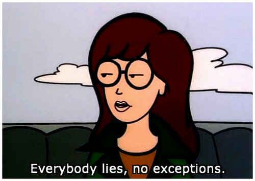 She had a severe distrust in people: | 29 Reasons Daria Was TV's Greatest Cynic